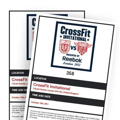 Reebok CrossFit Invitational Sold Out!