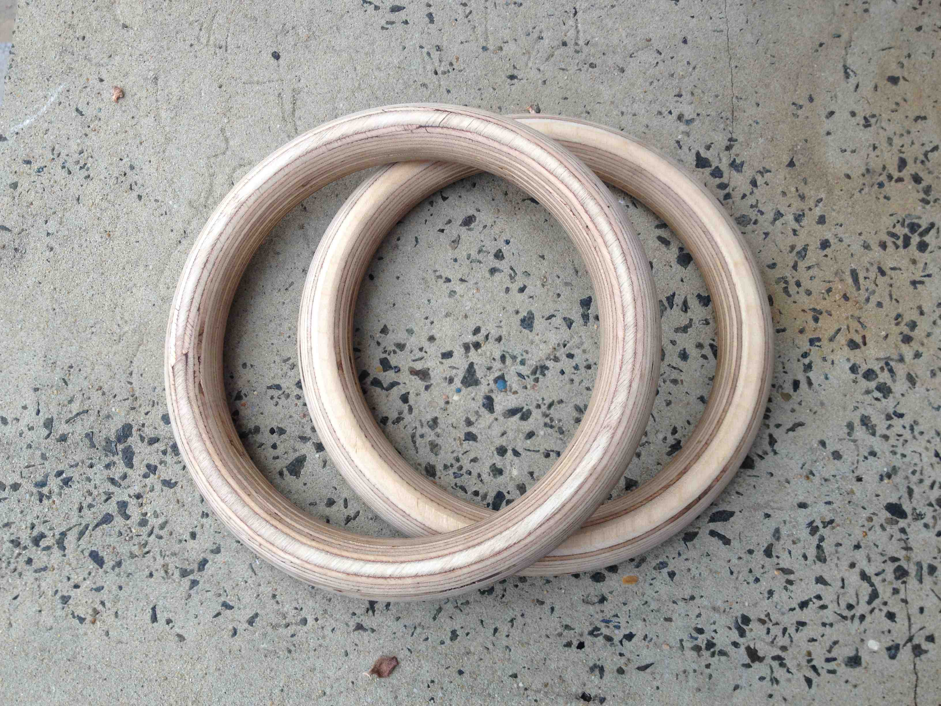 Bnyfit Wooden Gymnastics Rings