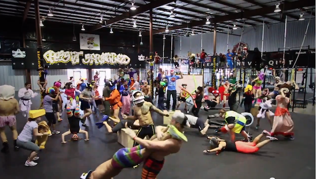 CrossFitters doing the Harlem Shake