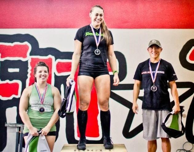 Katie Hogan on the podium