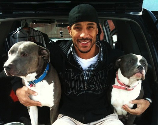 Neal Maddox with his dogs