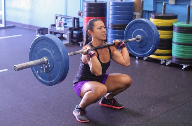 Jamie Hagiya crossfit front squat