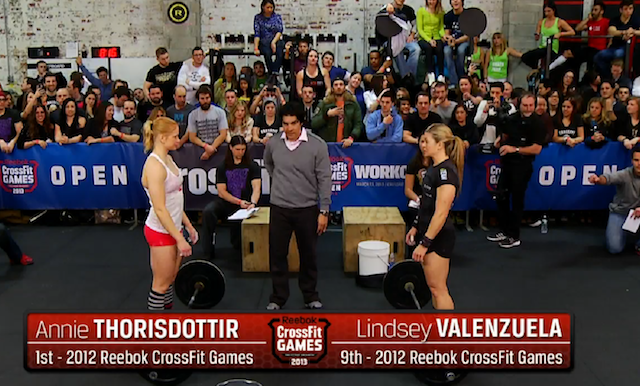 Lindsey Valenzuela vs Annie Thorisdottir in Reebok CrossFit Open 13.2