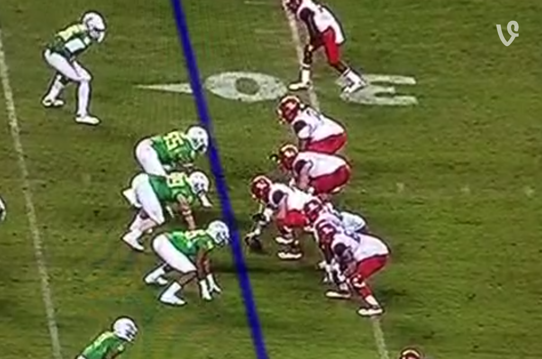 Meet Pukie! Center Vomits on Ball Before Snap