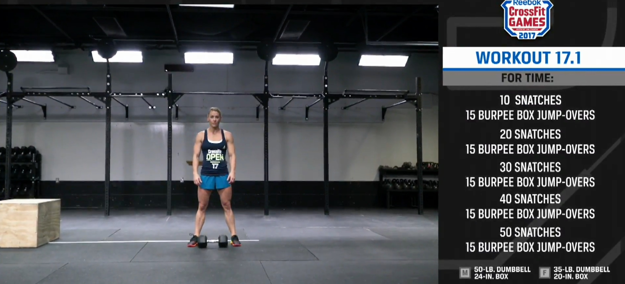 Crossfit Open 17 1 Workout Announced