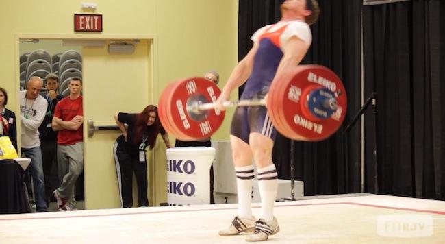 Chad Vaughn clean and jerk 184 kg