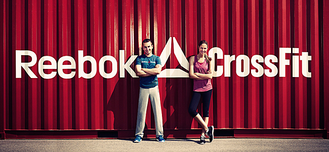Jorge Lorenzo and Martina Klein taking part in Reebok's CrossFit exhibtion in Madrid