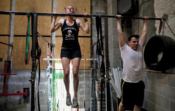 CrossFitters Taking Part in Memorial Day Murph Last Month