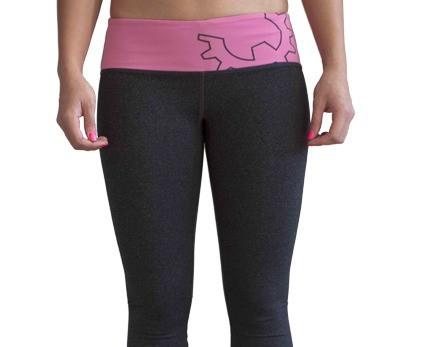 WOD Gear Pink & Grey Crop Pants