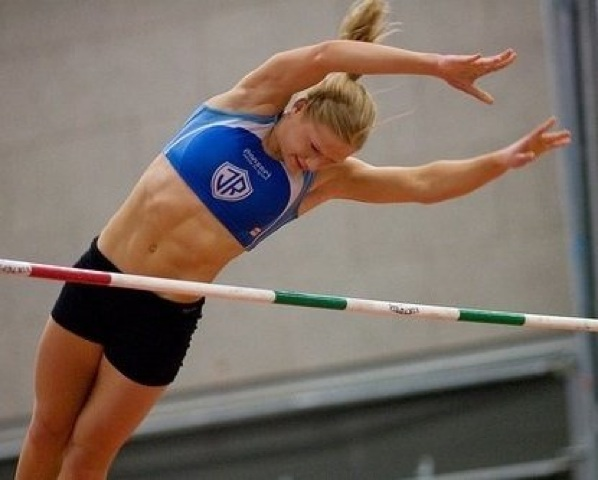 Annie Thorisdottir during her Pole Vaulitng days