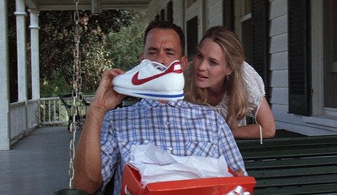 Forrest Gump with his Nike's