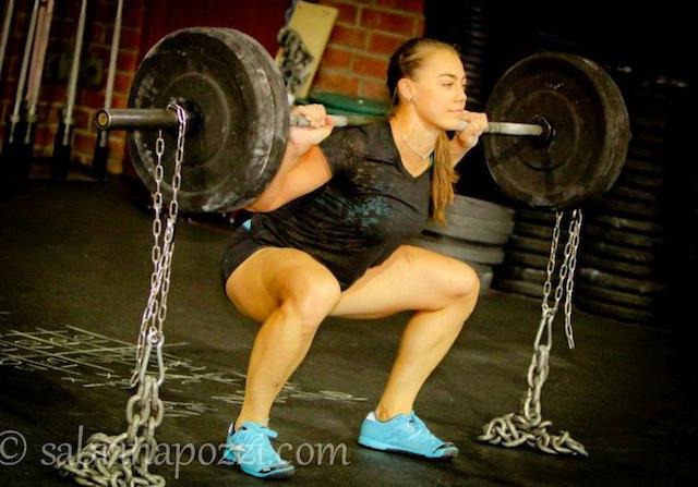 Katie Hogan Squatting