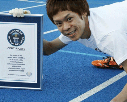 Kenichi Ito Fastest 100-meter on all fours