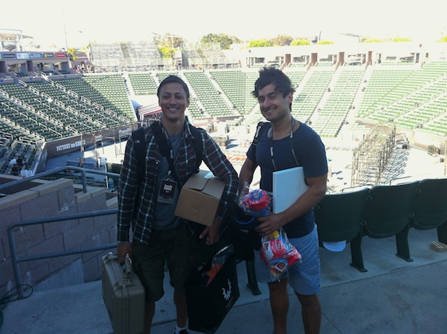 John and Michael at the 2012 CrossFit Games