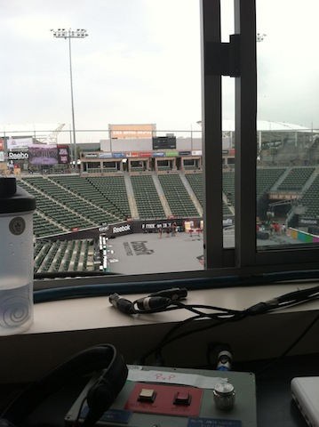 Katie Hogan Commentating Box 2012 CrossFit Games