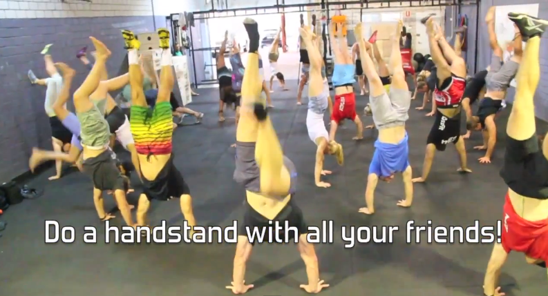 CrossFit Open Handstands