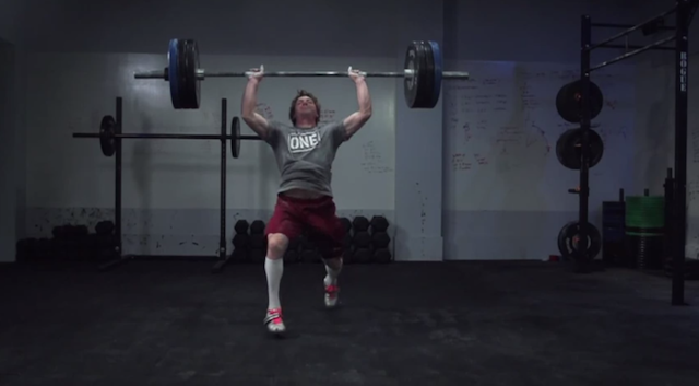 Chad Vaughn's Slow Motion Clean and Jerk