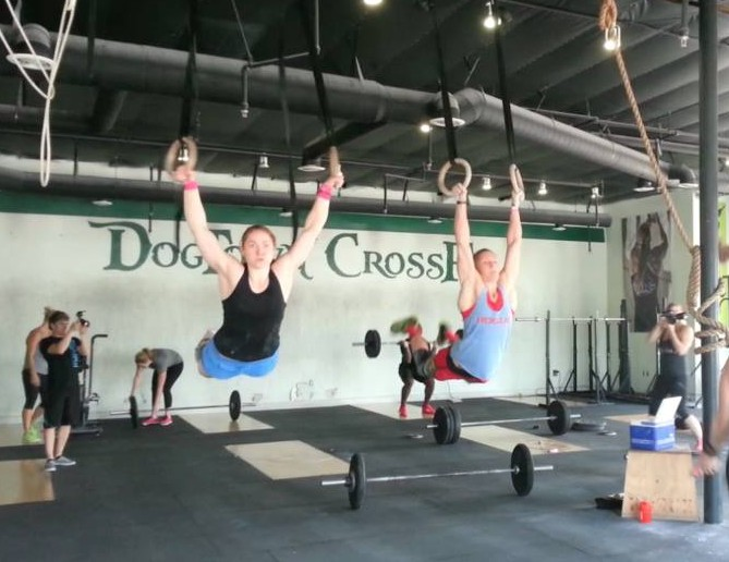 Ruth Anderson Horrell and Sam Briggs at DogTown CrossFit