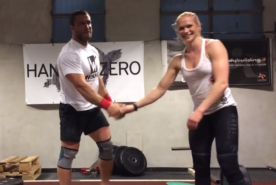 Annie Thorisdottir and Dmitry Klokov 1