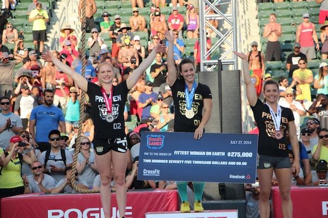 Camille Leblanc Bazinet 2014 CrossFit Games Podium