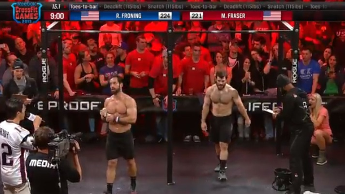 Froning Defeats Fraser in 15.1 crossfit open
