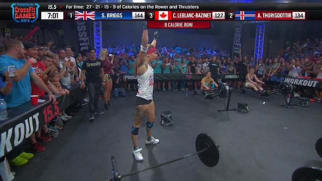CrossFit Open 15.5 results sam briggs