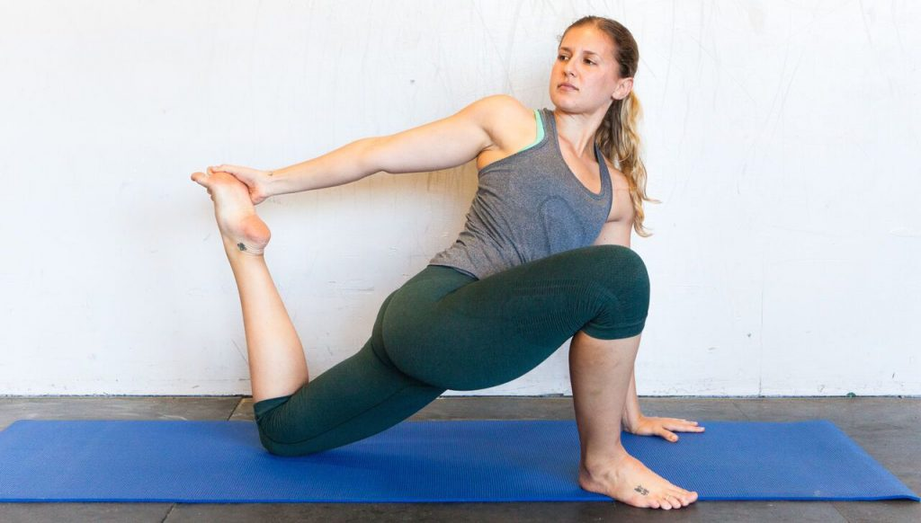 twisted monkey yoga pose 1