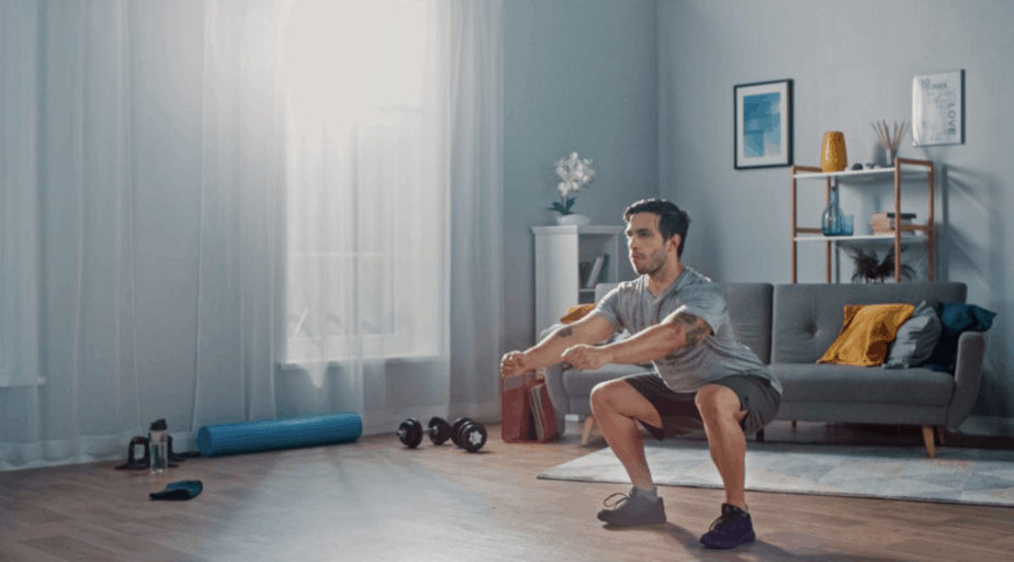 keeping fit at home